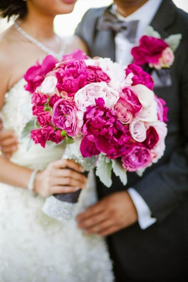 Fuchsia Pink and Blush Bouquet