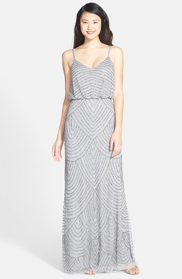 Holiday wedding guest-Adrianna Papell Blouson Gown