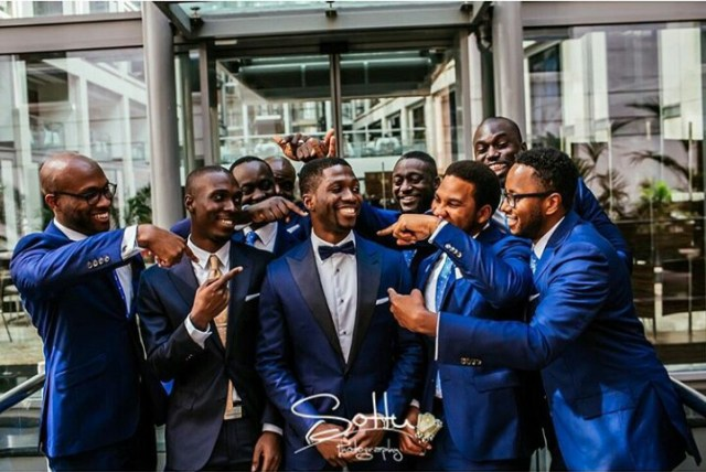 Pretty Perfect Groomsman Pictures- Blue groomsmen