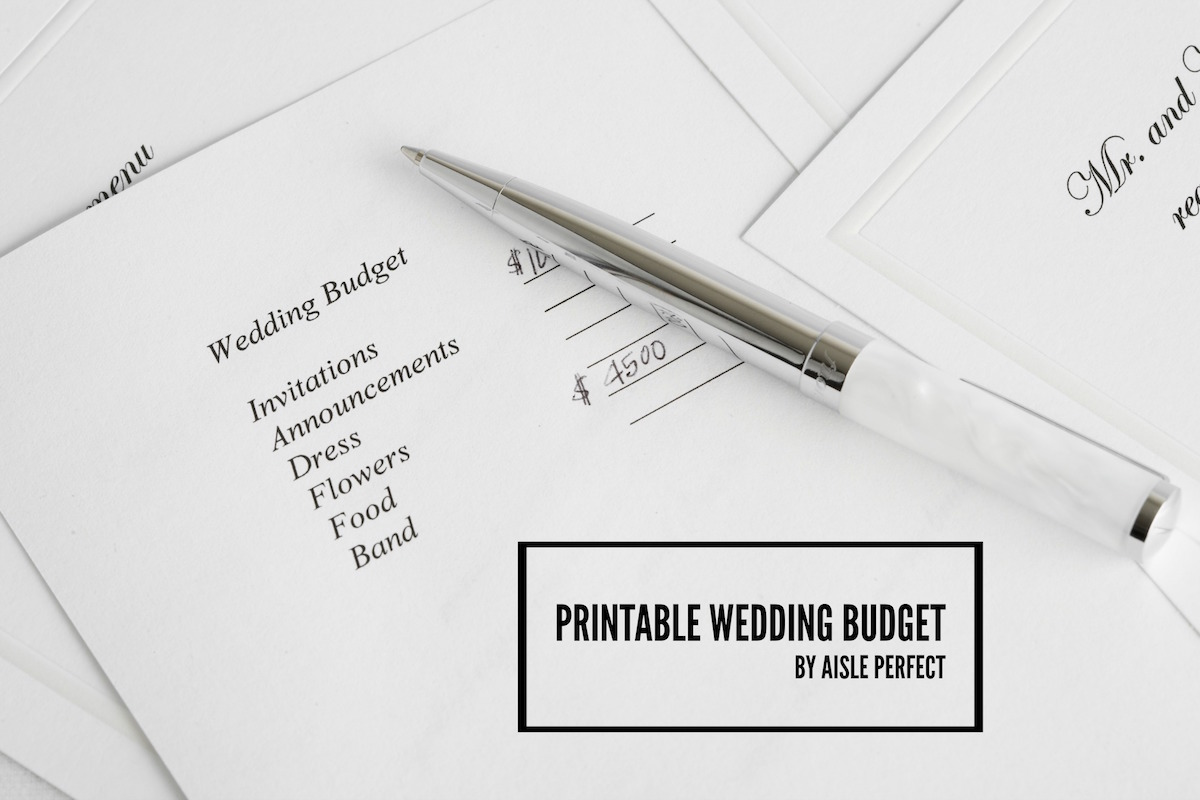It's just a graphic of Printable Wedding Budget throughout household budget