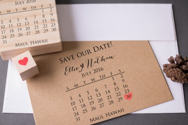save the date stamp set