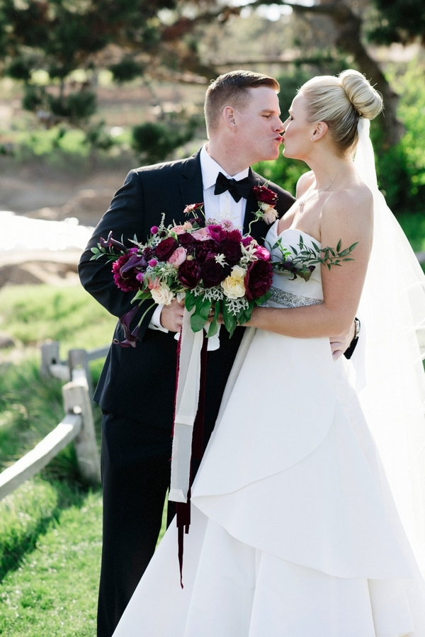 Pebble beach resorts wedding Sarah Maren Photography