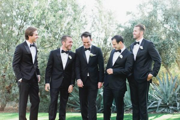 black tuxedo groomsmen
