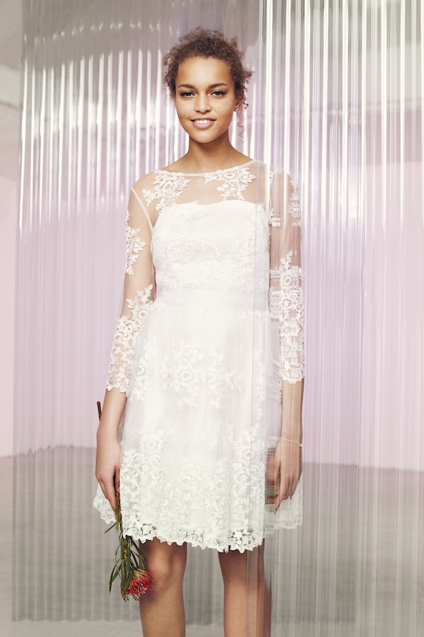 illusion lace short wedding dress from the ASOS wedding shop