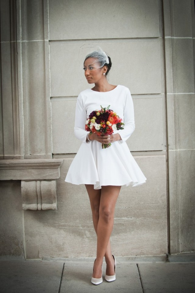 little white wedding dress for chic elopement