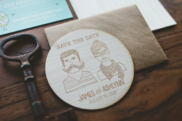 Save the Date Wooden Coasters