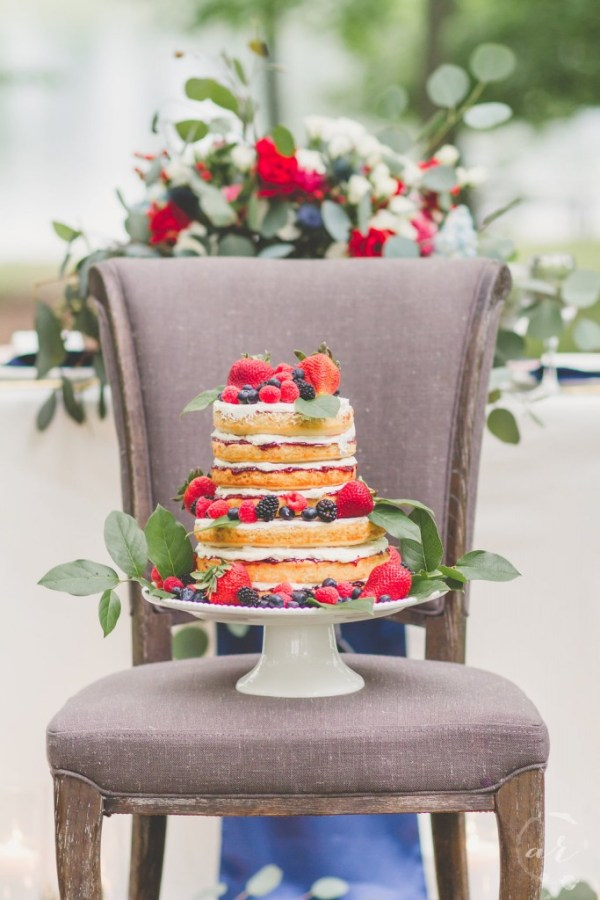Two Tier Naked Cake with Berries