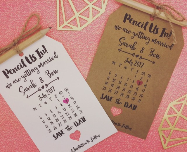 pencil us in save the date