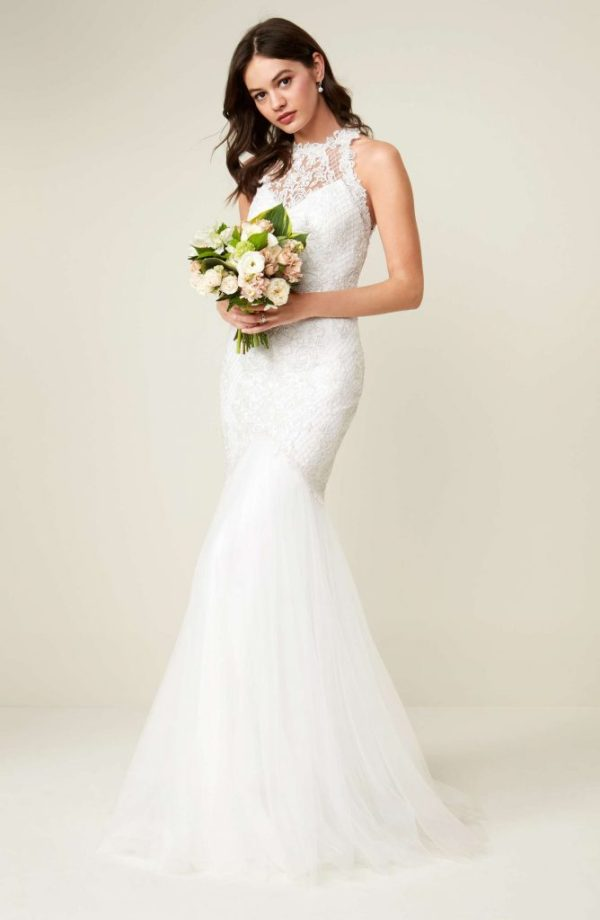 mermaid wedding dress by tadashi shoji