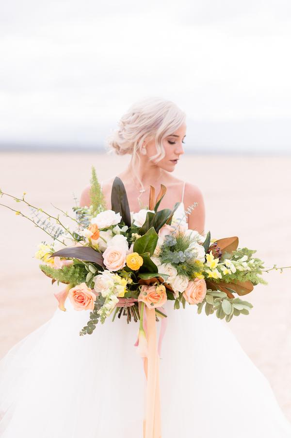 oversized wedding bouquet