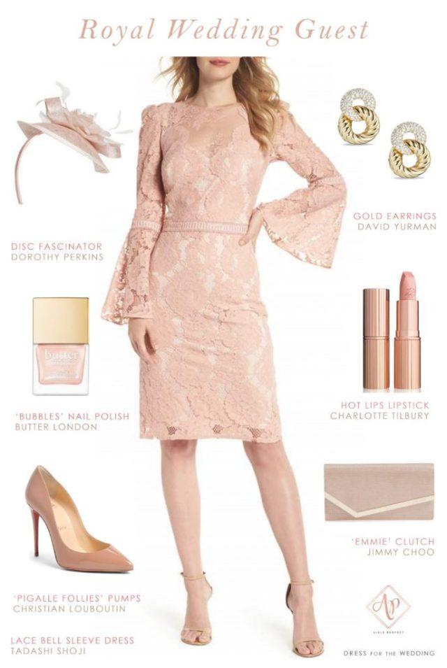 royal wedding guest outfit- blush wedding