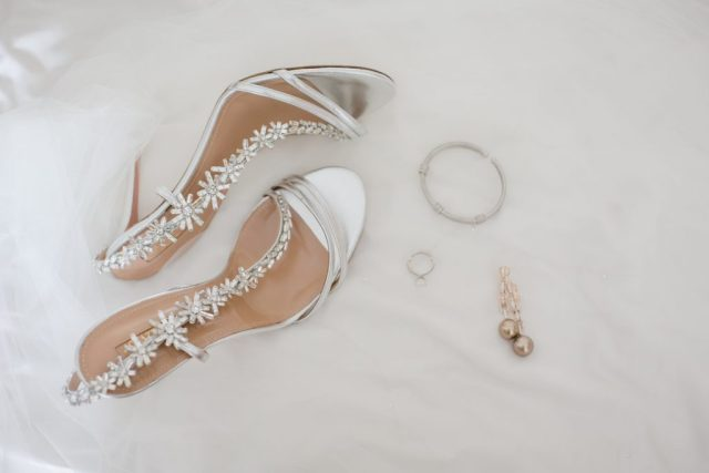 aquazzura embellished wedding shoes