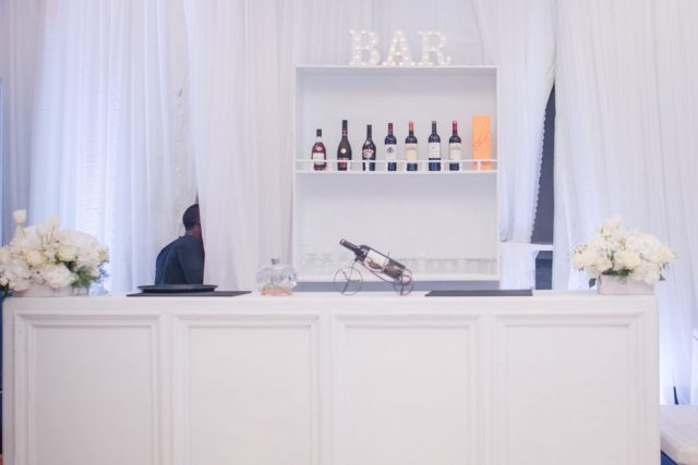 white wedding bar