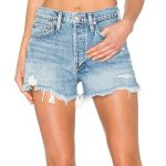 vintage cut off short in denim by agolde, available through revolve. perfête casual look. denim jean shorts.