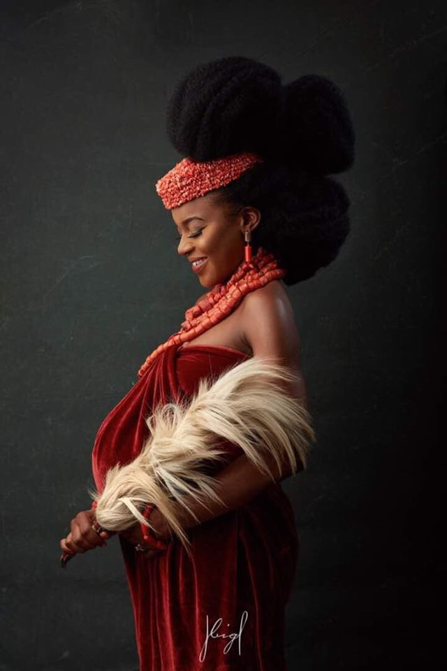 Edo Woman Maternity Shoot