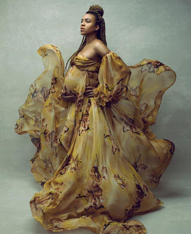 Yellow Portrait Maternity Shoot Lola Melani