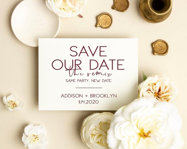 save our new date