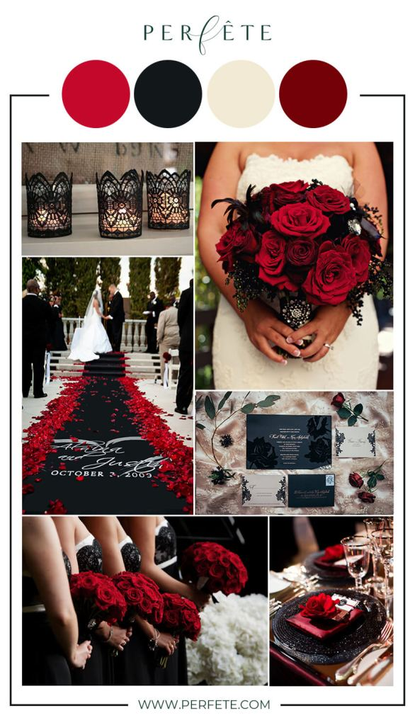 Black and Red wedding colors