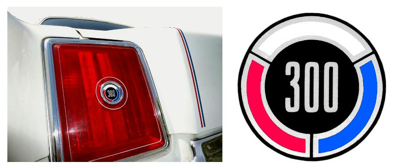 1979 Chrysler 300 Rear Tail Light Emblem Decal
