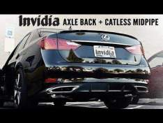INVIDIA HS12LGSG3H Rear muffler Q300 for Lexus GS350 (2012+)