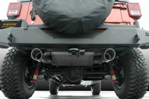 Gibson Exhaust System Jeep Wrangler 07-17 Cat-Back Dual Split