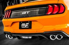 """MagnaFlow Cat-Back Exhaust Kit 3"""" Competition Series Stainless Steel With 4"""" Polished Quad Tips GT 2018-2019"""