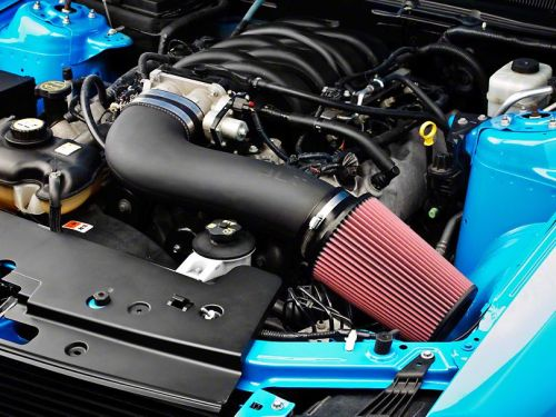 JLT CAI3-FMG05 Series 3 Black Textured Cold Air Intake Kit w/Red Filter – Tune Req Ford Mustang GT 05-09