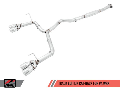 AWE Tuning 3020-43066 Track Edition Cat Back Exhaust Diamond Black Tips Subaru WRX/STI Sedan 2011+
