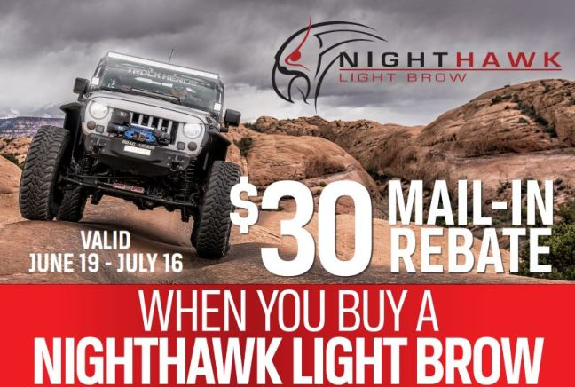 UnderCover 30 Dollar Rebate on NightHawk Light Brow