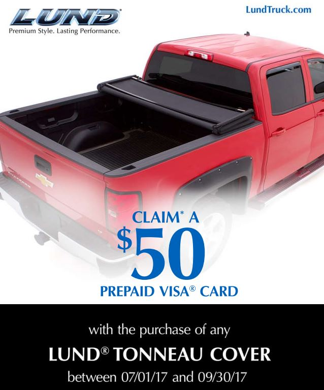 LUND: $50 Prepaid Card with Purchase of Tonneau Cover