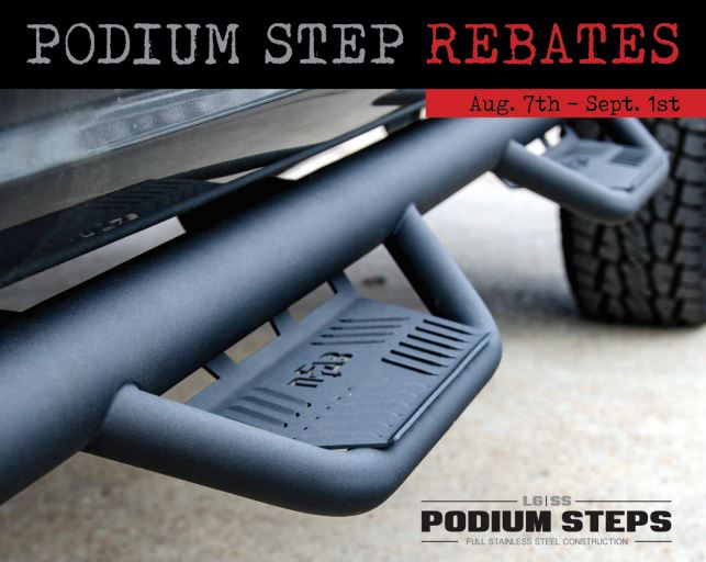N-FAB: Get Up to a $40 Rebate on Podium Steps