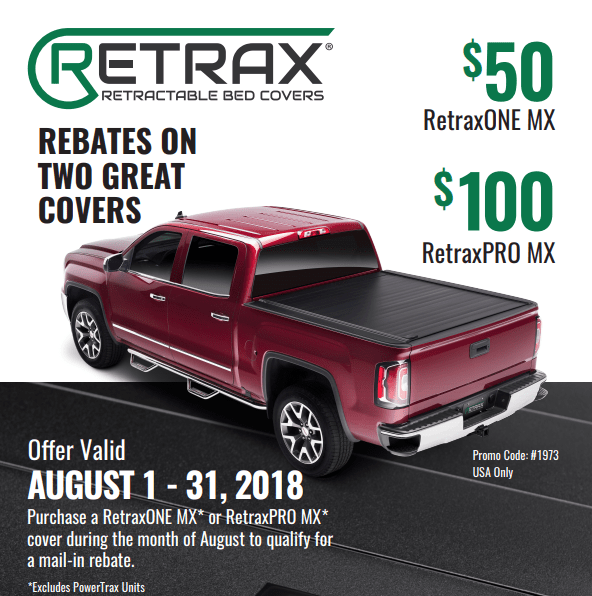 Retrax: Get up to $100 Back on Truck Bed Covers