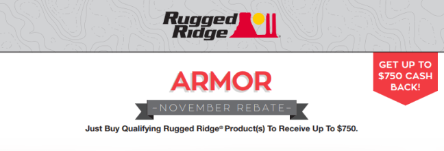 Rugged Ridge: Get Up to $750 Back on Qualifying Armor Products