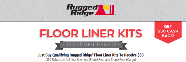 Rugged Ridge: Get $50 Back on Floor Liner Kits