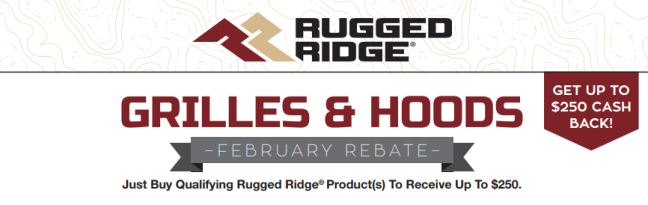 Rugged Ridge: Get Up to $250 Back on Qualifying Grille and Hood Purchases