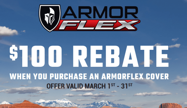 UnderCover $100 Back on ArmorFlex Truck Bed Cover