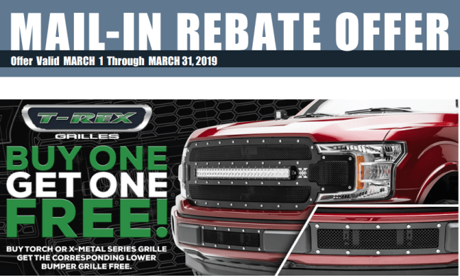 T-Rex Grilles: Buy One Torch or X-Metal Grille, Get One Matching Lower Bumper Grille Free