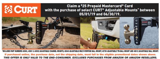 CURT: Get $25 Back on Adjustable Mounts