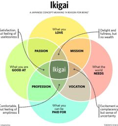 ikigai is a concept a framework a model that has four key questions that overlap into a venn diagram  [ 1124 x 1063 Pixel ]