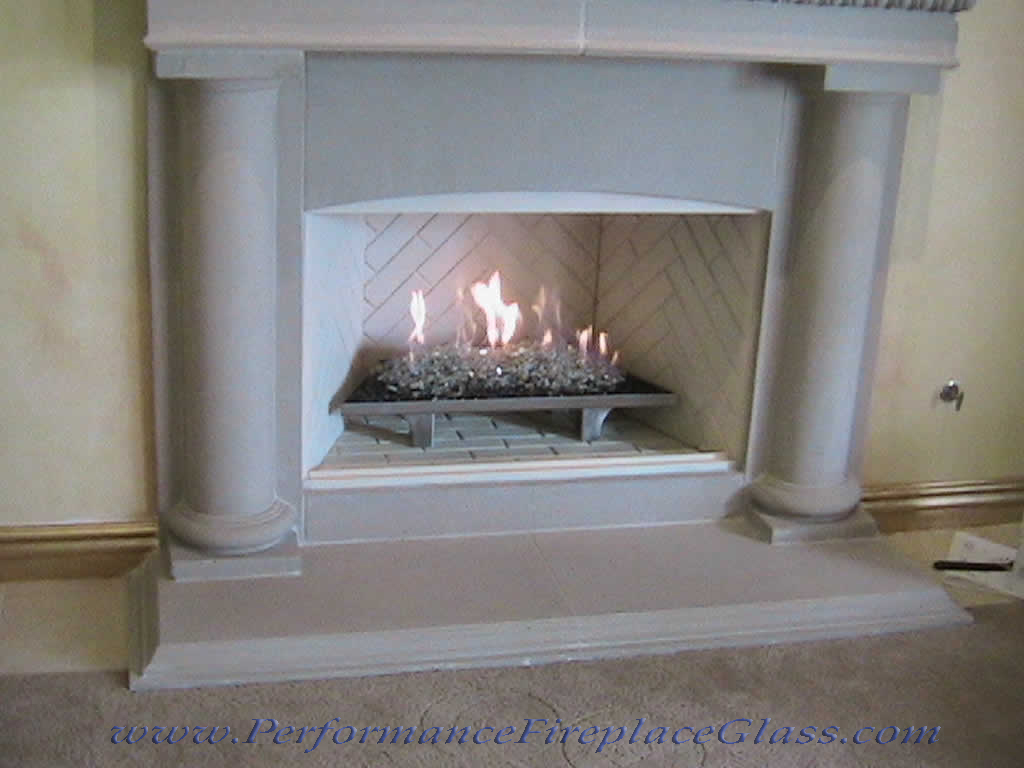 Elegant Glass for your Fireplace Fireplace Glass and More Custom Fireplace Designs Fireplace