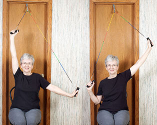 Pulley Shoulder Abduction in sitting  Performance Health