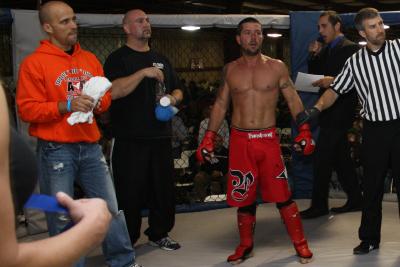 TeamPerformance - left to right - Mitchell Church trainer - Glen Sibley corner man - Lee Hendrix fighter