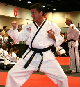 Mark Webb competes with Fourth Degree Black Belt Form.