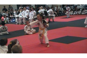 2009 Songham Taekwondo World Championships - Junior (4-7) Weapons - T. Sibley Single Ssahng Jeol Bong Freestyle during her 3rd Place tie breaker.