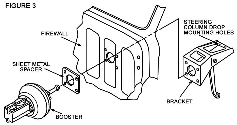 55-59 Chevy Truck, Firewall Mount Power Booster Kit