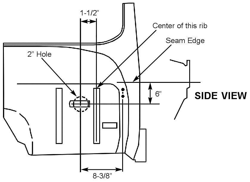 47-53 Chevy Truck, Firewall mount power brake booster kit