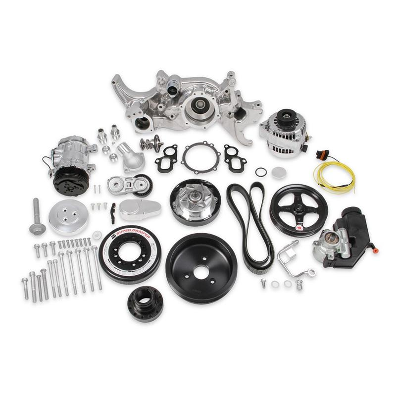 Holley Engine Accesory Kit 20-200P; Premium Black Mid
