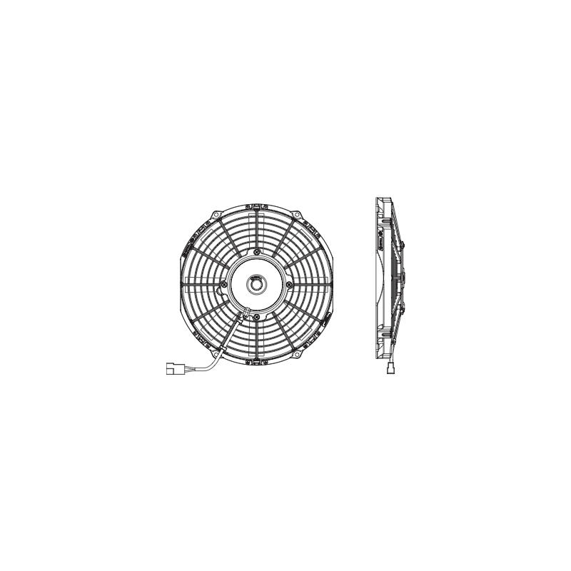 Spal Engine Cooling Fan 30100435; Lo-Profile 10.000