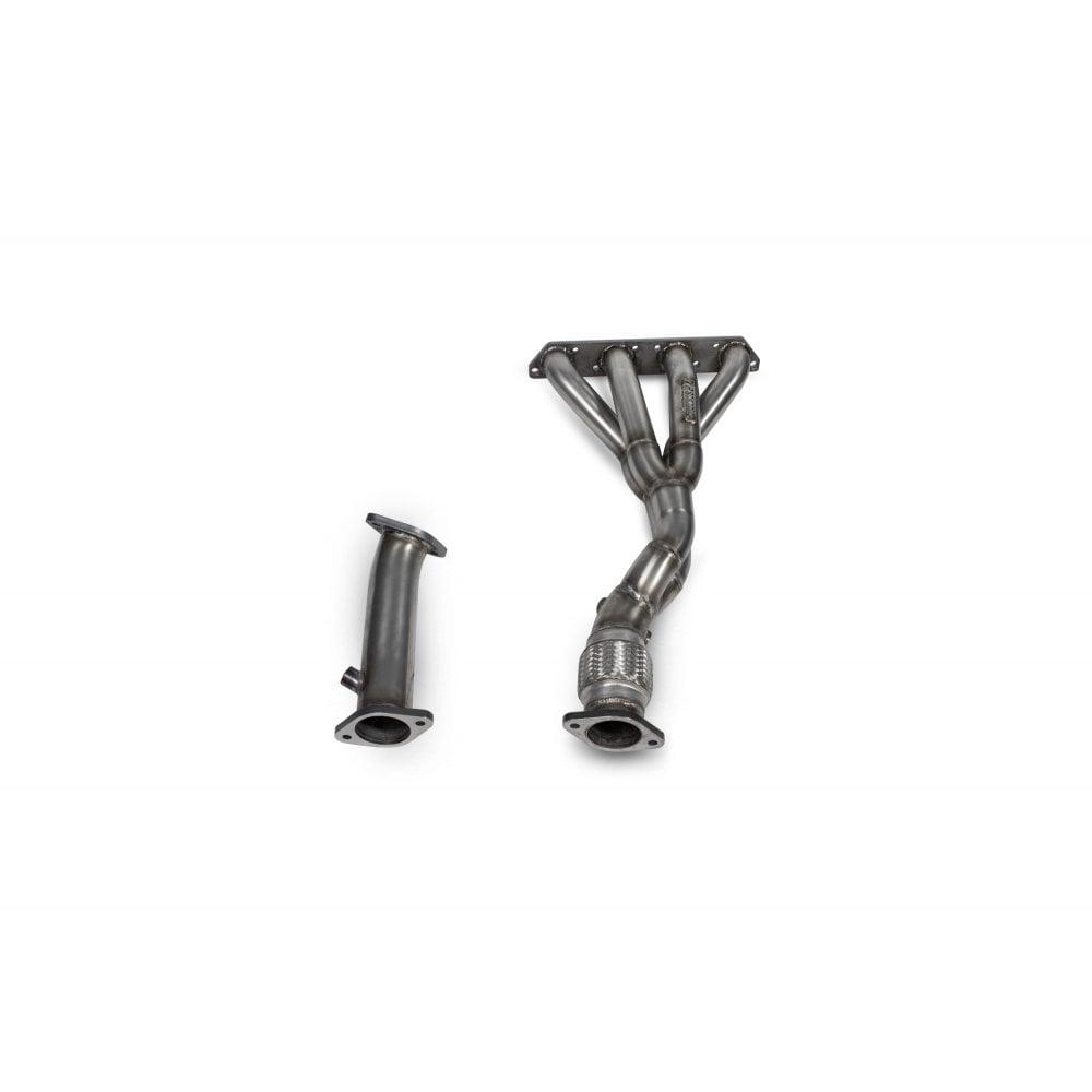scorpion exhausts scorpion 4 2 1 mini high flow manifold de cat pipe gen 1 r53 r52 r50