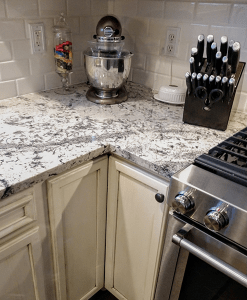 Romania Granite Kitchen Countertops And Peninsula